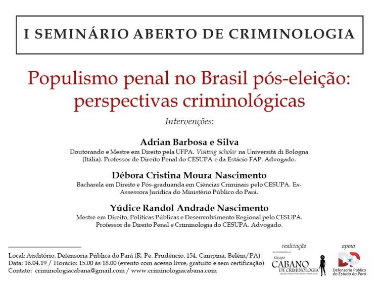 I Seminário Aberto - Grupo Cabano de Criminologia (definitivo)
